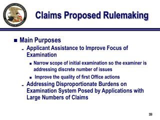 Claims Proposed Rulemaking