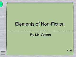 Elements of Non-Fiction