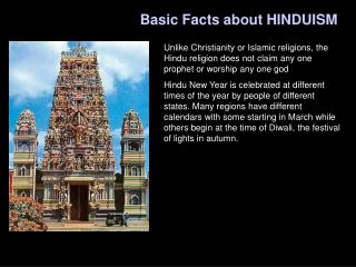 Basic Facts about HINDUISM
