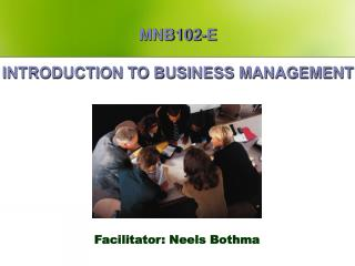 MNB102-E INTRODUCTION TO BUSINESS MANAGEMENT