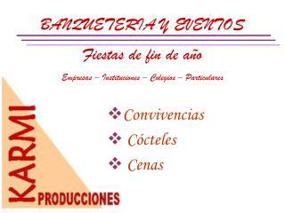 BANQUETERIA Y EVENTOS