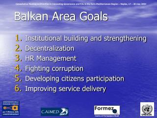 Balkan Area Goals