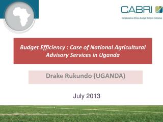 Budget  Efficiency  :  Case of National Agricultural Advisory  Services in Uganda