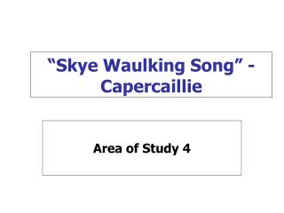 """""""Skye Waulking Song"""" - Capercaillie"""