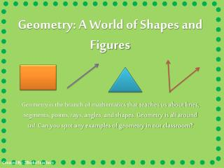 Geometry: A World of Shapes and Figures