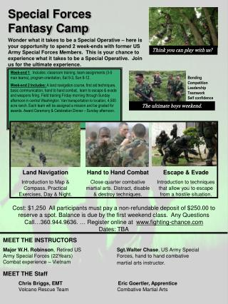 Special Forces Fantasy Camp