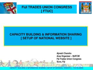 CAPACITY BUILDING & INFORMATION SHARING [ SETUP OF NATIONAL WEBSITE ] – FIJI ISLANDS
