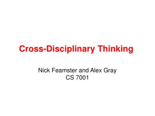 Cross-Disciplinary Thinking
