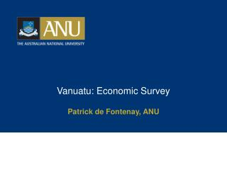 Vanuatu: Economic Survey