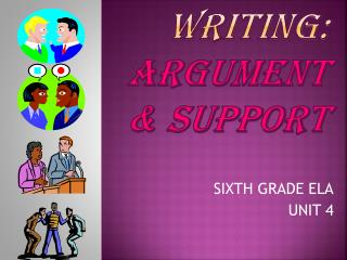 PERSUASIVE WRITING:  argument  & SUPPORT