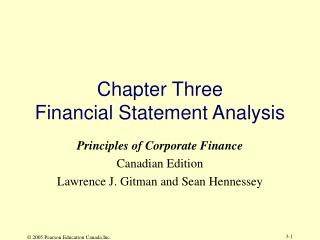 Chapter Three Financial Statement Analysis