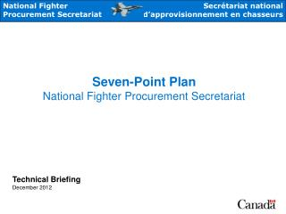 Seven-Point Plan National Fighter Procurement Secretariat