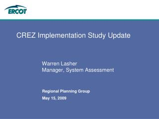 CREZ Implementation Study Update