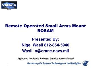 Remote Operated Small Arms Mount ROSAM