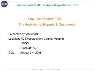 International Traffic in Arms Regulations ITAR