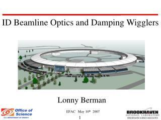 Lonny Berman EFAC May 10 th   2007