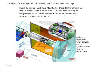 Analysis of the voltage hold off between WSC/ESC and inner field cage