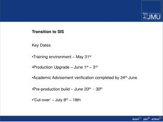 Transition to SIS