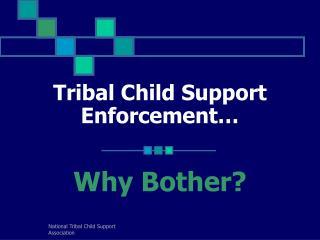 Tribal Child Support Enforcement…