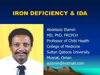 IRON DEFICIENCY  IDA