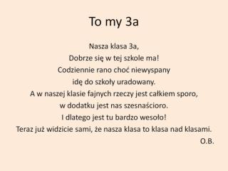 To my 3a