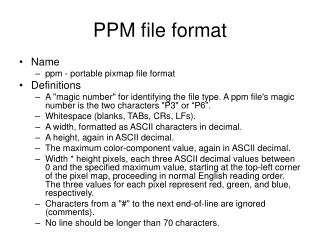 PPM file format