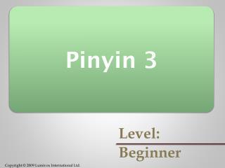 Pinyin 3