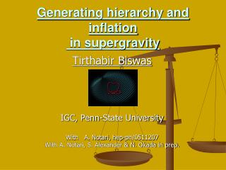 Generating hierarchy and inflation   in supergravity