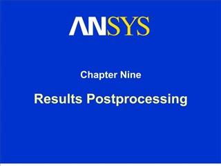 Results Postprocessing