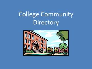 College Community Directory