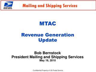 MTAC Revenue Generation  Update