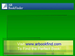 Quick Search The Quick Search in AR BookFinder allows you to search on keywords to generate a list of results that matc