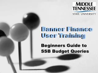 Banner Finance User Training