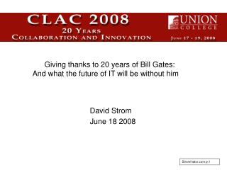David Strom    June 18 2008