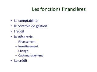 Les fonctions financi�res