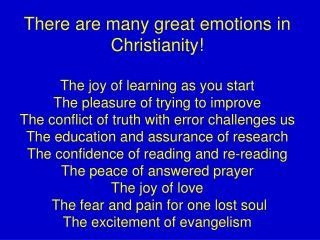 Finding The Excitement Of Evangelism Today!