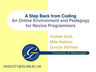 A Step Back from Coding  An Online Environment and Pedagogy for Novice Programmers