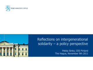Reflections on intergenerational solidarity – a policy perspective
