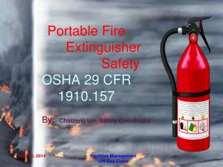 Portable Fire           Extinguisher                    Safety OSHA 29 CFR 1910.157