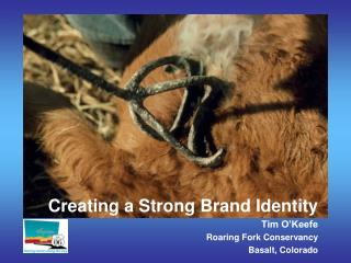 Creating a Strong Brand Identity Tim O'Keefe Roaring Fork Conservancy Basalt, Colorado