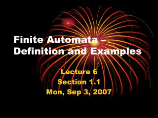 Finite Automata � Definition and Examples