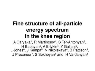 Fine structure of all-particle energy spectrum                          in the knee region