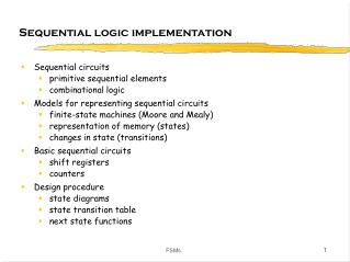 Sequential logic implementation