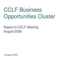 CCLF Business Opportunities Cluster