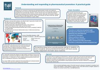 Understanding and responding to pharmaceutical promotion: A practical guide