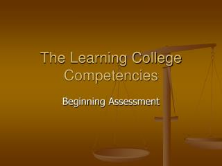 The Learning College Competencies