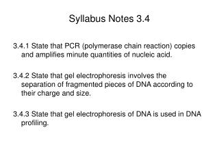 Syllabus Notes 3.4