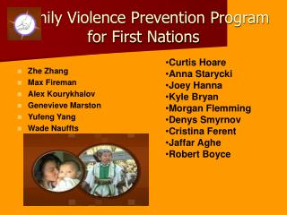 Family Violence Prevention Program for First Nations