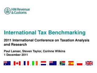 International Tax Benchmarking