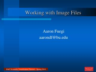 Working with Image Files